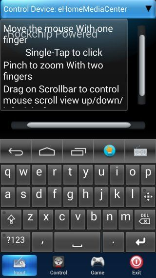 android stick remote app keyboard