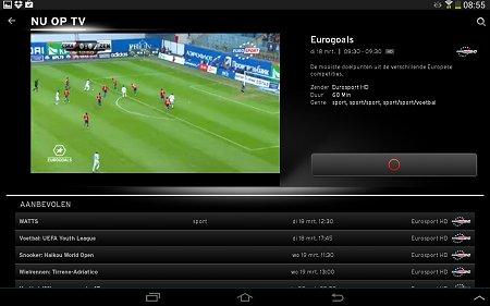 upc horizon app voetbal